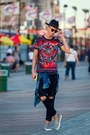 Silver-axelarigato-shoes-black-ripped-jeans-vintage-jeans