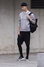 Heather-gray-sweater-alexander-wang-xhm-sweater-black-leggings
