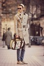 Camel-trench-coat-h-m-coat-blue-h-m-jeans-beige-vintage-hat