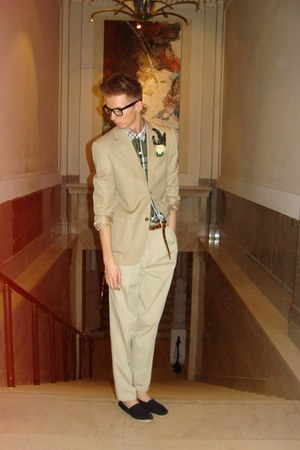 next blazer - brooch by judy gergely accessories - vintage chino pants