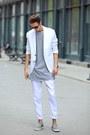 Periwinkle-axelarigato-shoes-silver-t-shirt-white-white-suit-zara-suit