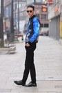 Black-leather-shoes-h-m-shoes-black-black-jeans-gap-jeans-black-vintage-hat