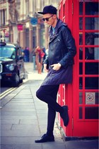 black jacket - navy parka Zara jacket - black Zara leggings