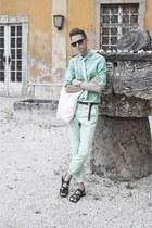 Zara sandals - hm shirt - hm belt