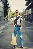 H&M pants - dreamweaver shirt - casio watch - H&M necklace - H&M sandals