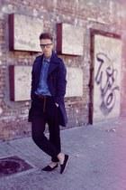 F&F shoes - cotton vintage jeans - denim Levis shirt - leather H&M belt