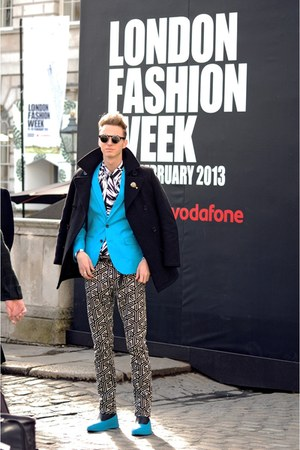 blue blazer hm blazer - geometric style versace for Hm shirt