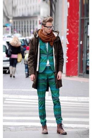 chartreuse H&M suit - green H&M tie