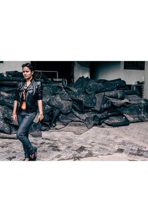faux leather Romwecom jacket