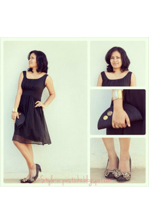 black Carlton London shoes - black lbd Arrow dress