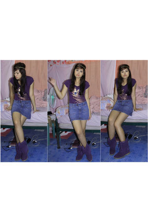 purple Hannah Montana top - blue Given skirt - purple MX boots