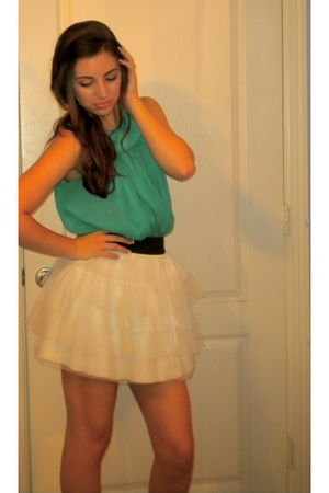 blue Forever 21 dress - white Forever 21 skirt