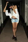 White-topshop-blouse-hk-borrowed-from-friend-shorts-sm-shoes-zara-accessor