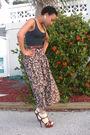 Thrifted-shirt-thrifted-skirt-liz-claiborne-belt-brown-ysl-shoes