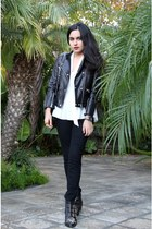 SANDRO jacket - Chloe boots - Burberry jeans
