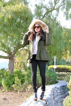 Burberry jeans - Burberry jacket - Louis Vuitton bag - PROENZA SCHOULER wedges