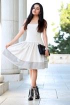 Chanel boots - Lotusgrace dress - Celine bag