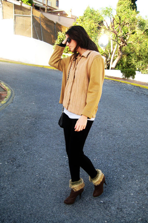 brown BLANCO boots - brown balenciaga jacket