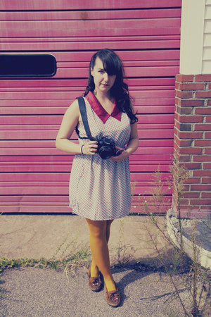 modcloth dress - H&M tights - Minnetonka loafers