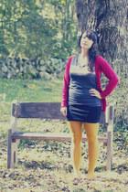 Target shirt - H&M tights - Target cardigan - Forever 21 skirt