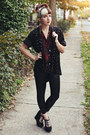 Black-faux-leather-unknown-leggings-black-suede-urban-outfitters-wedges