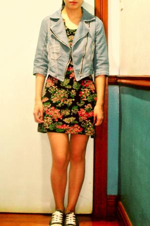 jacket - Topshop dress - Converse shoes