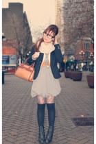 black Forever 21 blazer - tawny Liz Clairborne purse