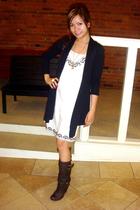 Forever21 dress - boots - blazer