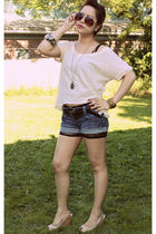 beige Heritage shirt - beige H&M shoes - beige H&M accessories - black Forever21
