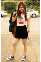 black H&M skirt - white Walmart shirt - brown Forever21 purse - brown Urban Outf
