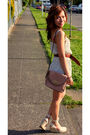 White-h-m-dress-beige-forever21-purse