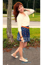 beige Heritage blouse - beige Forever21 shoes - Heritage skirt