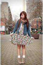 bubble gum Forever 21 dress - blue a&f jacket
