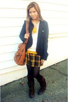 Heritage skirt - Forever21 jacket - legwarmer socks - Roxy boots - American Eagl