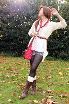 red Forever 21 scarf - brown Forever 21 shoes - red Heritage 1981 belt