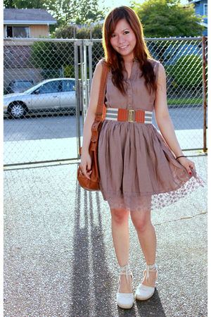 brown Forever21 belt - brown Forever21 dress