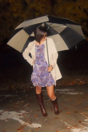 coat - Charlotte Russe dress - boots