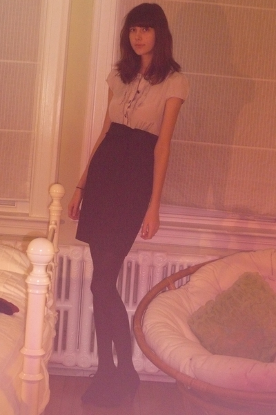H&M dress - simons tights - Zara