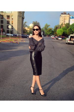 asos skirt - asos sunglasses - asos heels