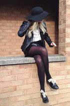 black floppy hat Topshop hat - black shearling Primark jacket