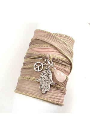 silk wrap charmeddesign1012 bracelet