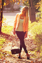 carrot orange Bershka blazer