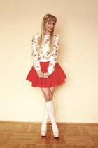 cream Lovelyshoes sweatshirt - cream Lovelyshoes heels