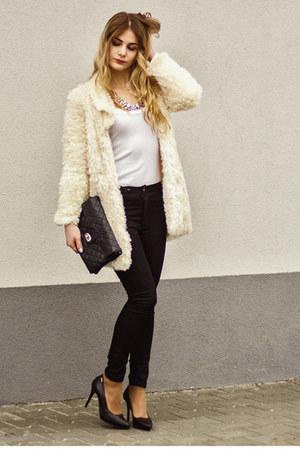 cream shein coat
