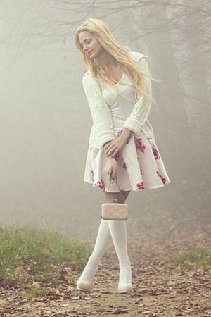 cream Sheinside skirt