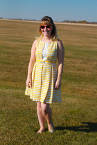 yellow knit eva franc dress - nude GH Bass loafers