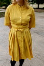 5f7413fb616 ... Gold-silk-dress-vintage-dress-ruby-red-wool- ...