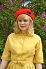 c3068ecab57 ... Gold-silk-dress-vintage-dress-ruby-red-wool-