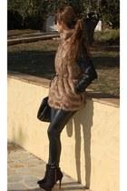 Stradivarius vest - Bershka boots - Stradivarius jacket - Stradivarius leggings