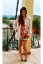 BLANCO coat - BLANCO bag - Stradivarius skirt - BLANCO t-shirt - Bershka heels